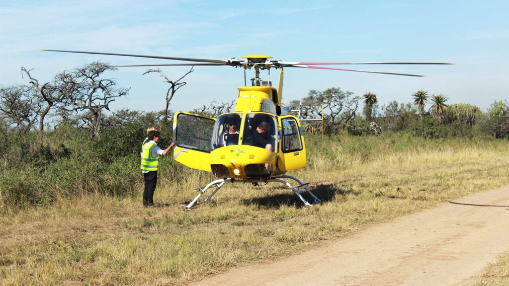 Private Helicopter Hire to Tala Game Reserve