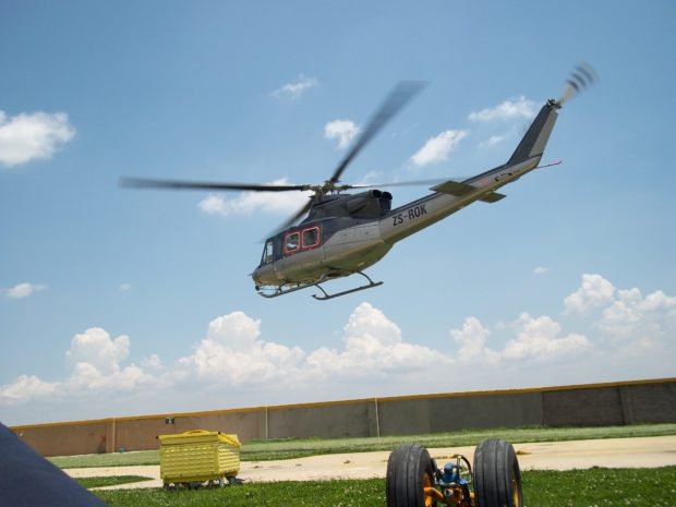 Bell 412 Operating out of Liberia during the Ebola Epidemic in 2014